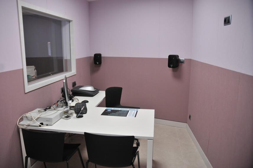 Servicio de Audiología - Sala insonorizada para realizar audiciones